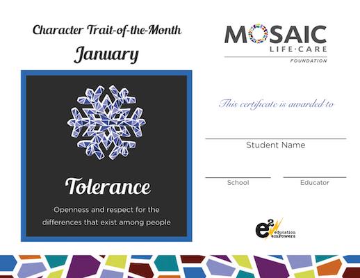 January Certificate